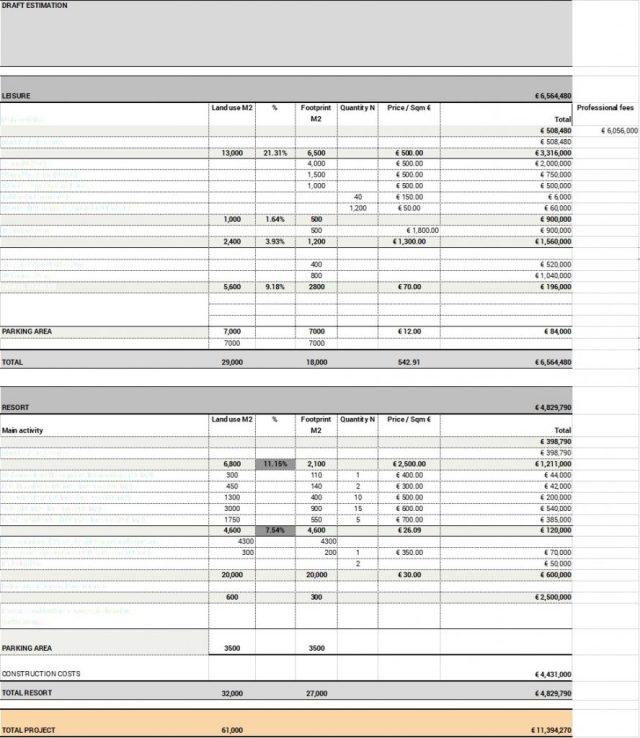 Project Financial Plan Valithea Advisory