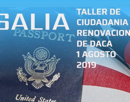 Taller de Ciudadanía y Renovación de DACA en Visalia 1 Agosto 2019 CVIIC