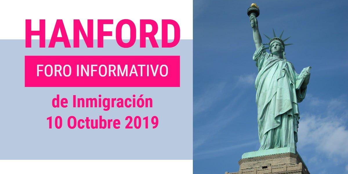 Foro Informativo de Inmigración en Hanford 10 Octubre 2019 CVIIC