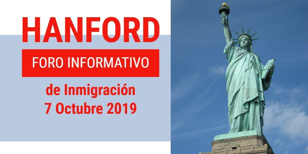 Foro Informativo de Inmigración en Hanford 7 Octubre 2019 CVIIC