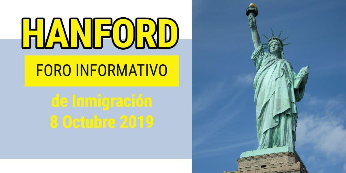Foro Informativo de Inmigración en Hanford 8 Octubre 2019 CVIIC