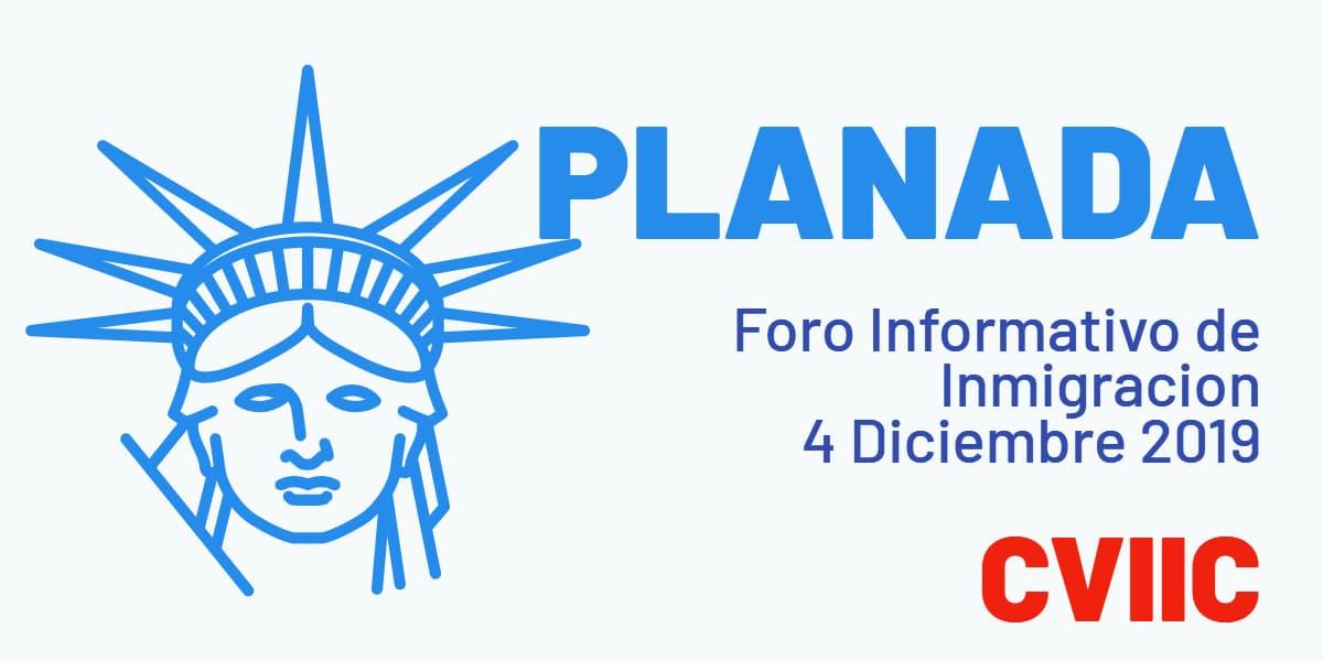 Foro Informativo de Inmigración en Planada 4 Diciembre 2019 CVIIC