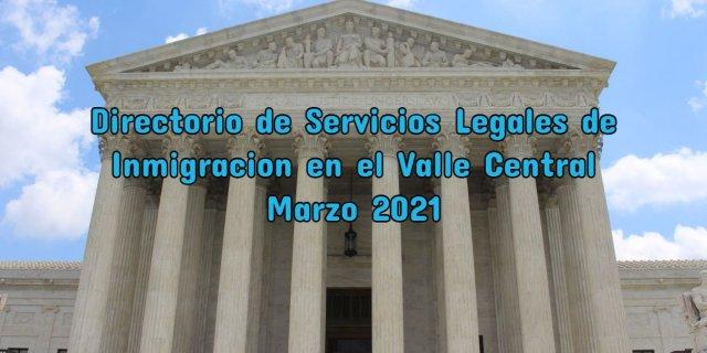 Directorio de Servicios Legales de Inmigracion CVIIC
