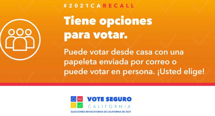Elección de Destitución en California 2021