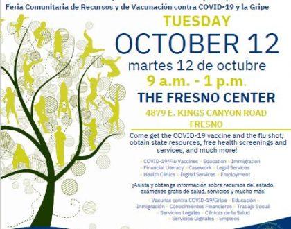 Feria de Recursos Comunitarios en Fresno 12 Octubre