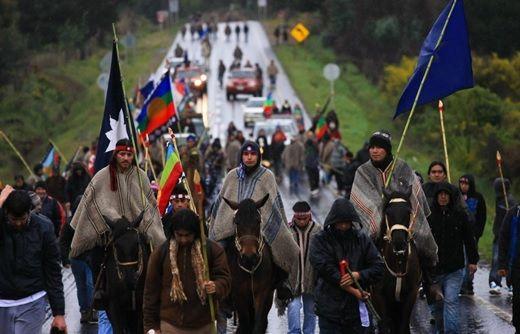 Protesta Mapuche. Crédito de la foto: Futuro Renovable.