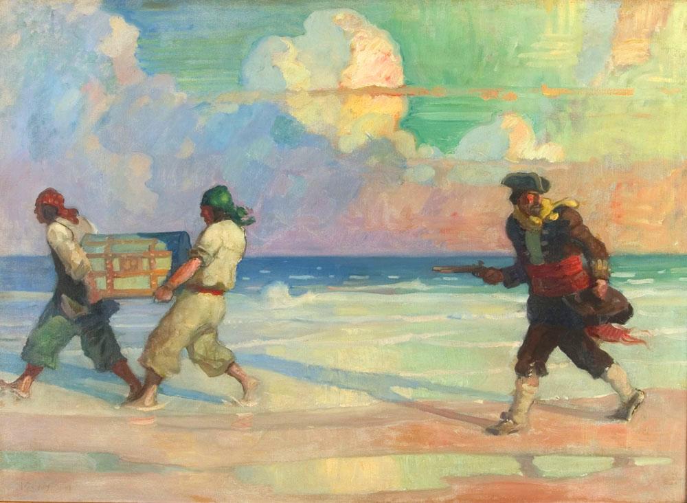pirates carry treasure