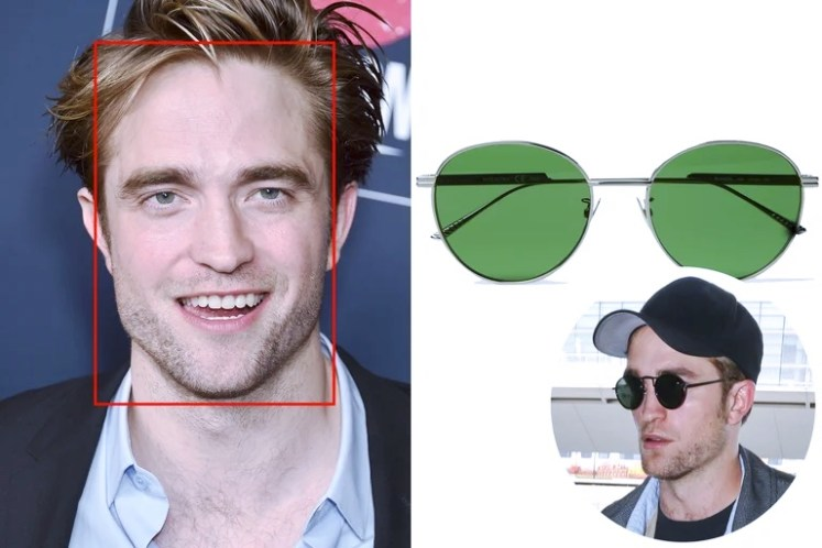 Lentes forma rectangular con Robert Pattinson