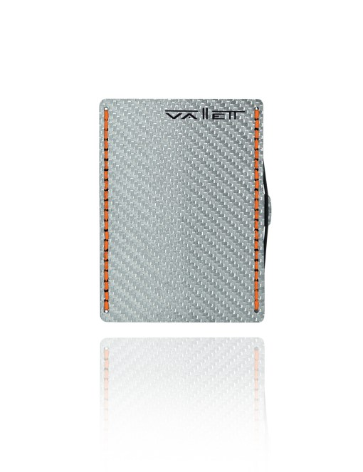 Vallett Carbon Fiber Wallet - Orange Stitching