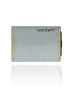 Vallett Carbon Fiber Wallet Small - Yellow Stitching