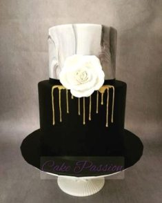 B1010 - Black White and Gold