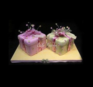 B344 Twins Birthday Shabby Shieke