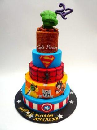 B354 Super Heroes Cake