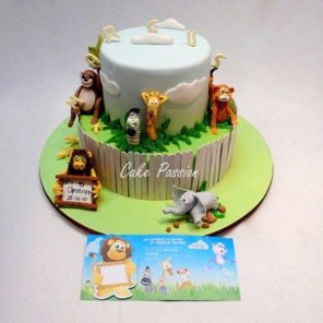 CH36 Jungle Animals Scene With invitation
