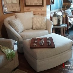 Living Room Chair And Ottoman Grey Covers Ikea Whirl Swivel Fabric