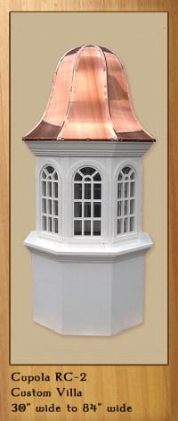 Royal Crowne Custom Design vinyl or wood cupolas - Valley ...