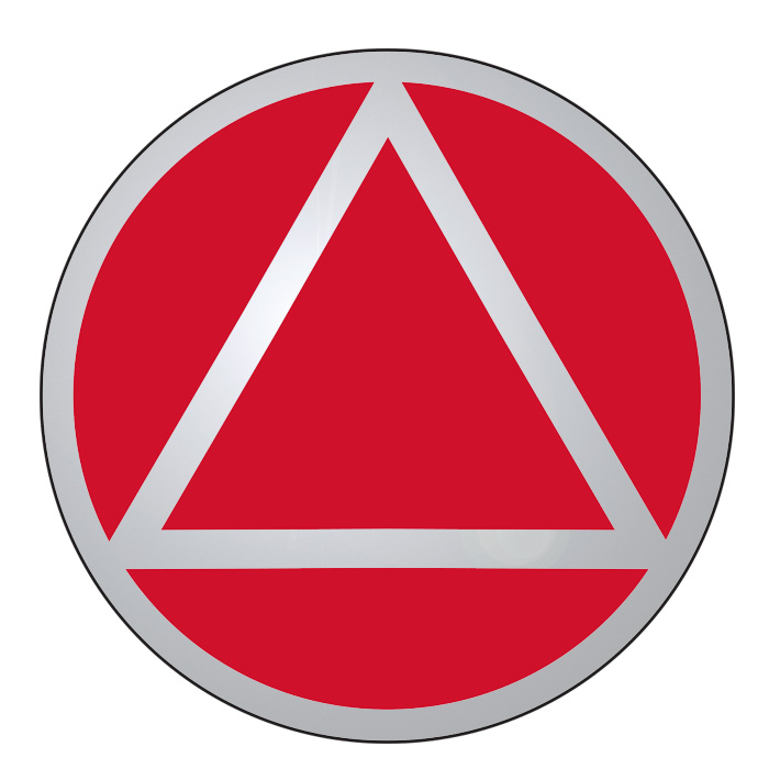 New! Service Symbol AA Red/Chrome Sticker