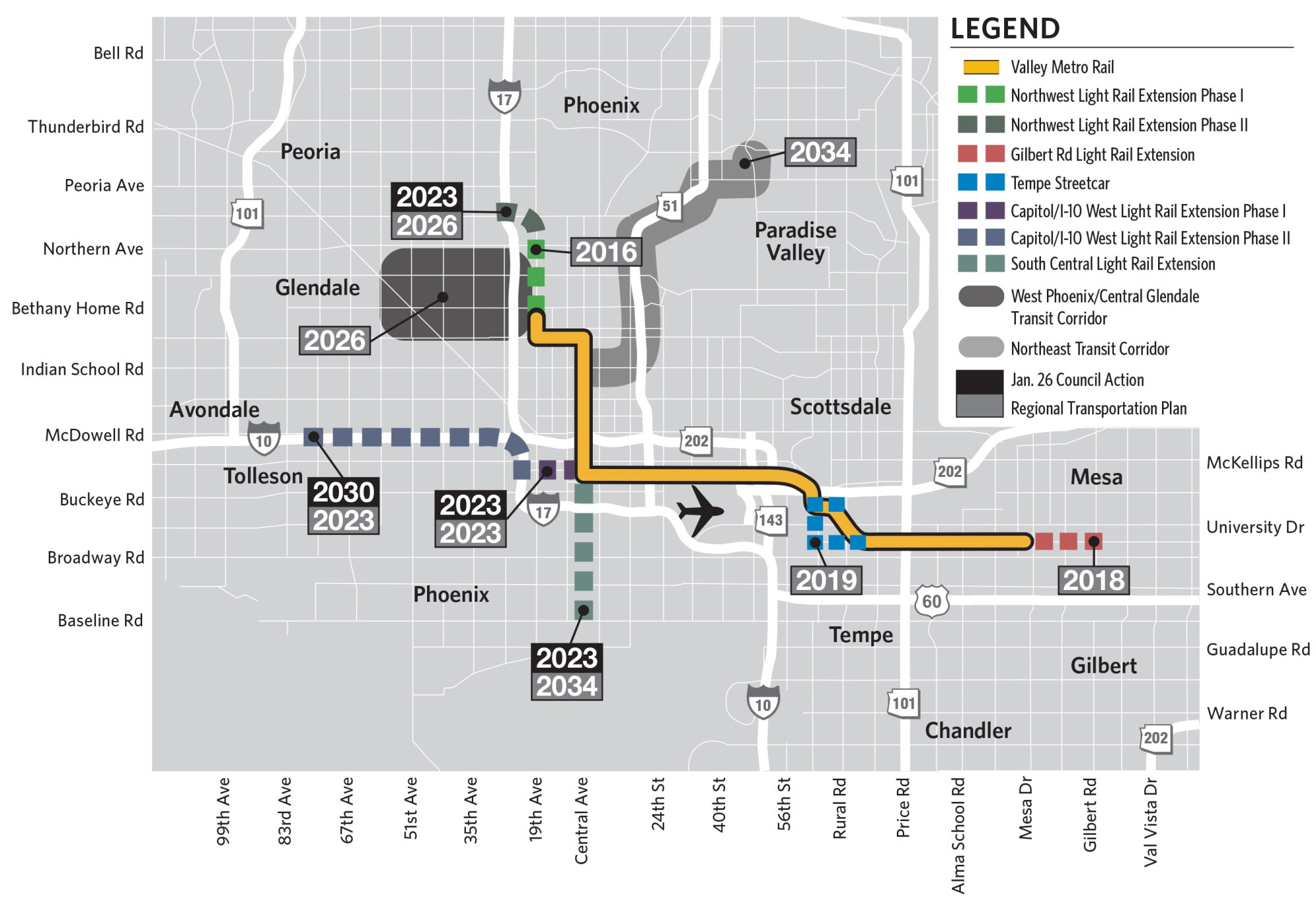 hight resolution of phoenix rail rally brings transit to the desert