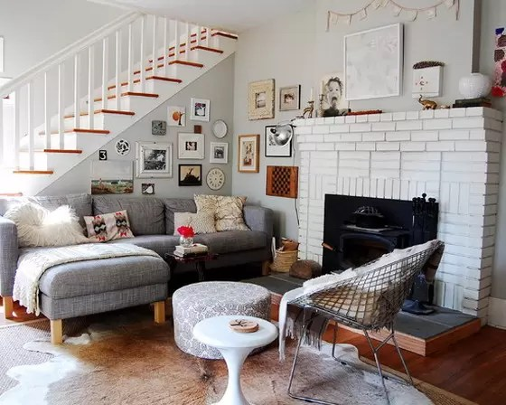 White room, eclectic style