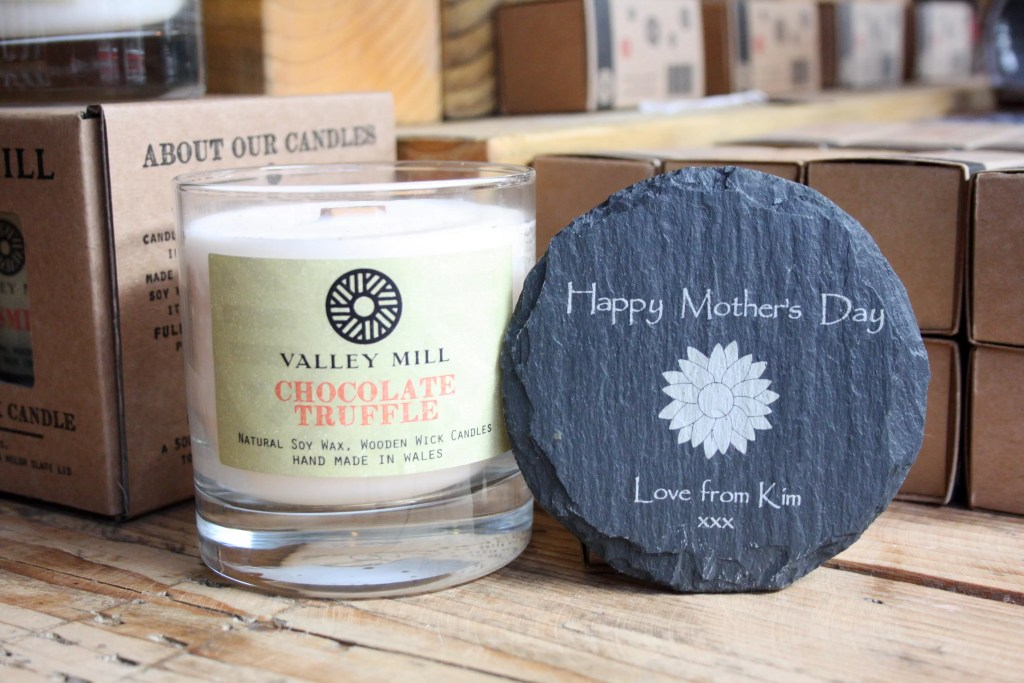 Personalised Valley Mill wood wick candle