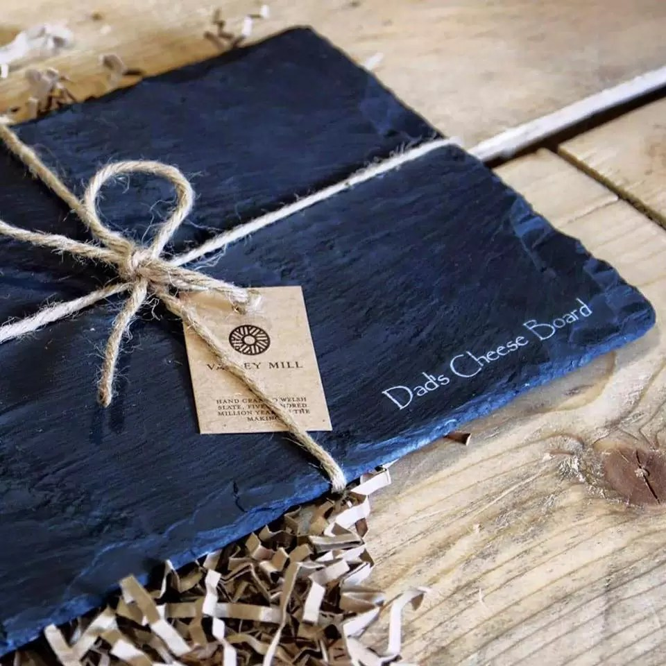 Personalised Welsh late Father's Day Cheese Board