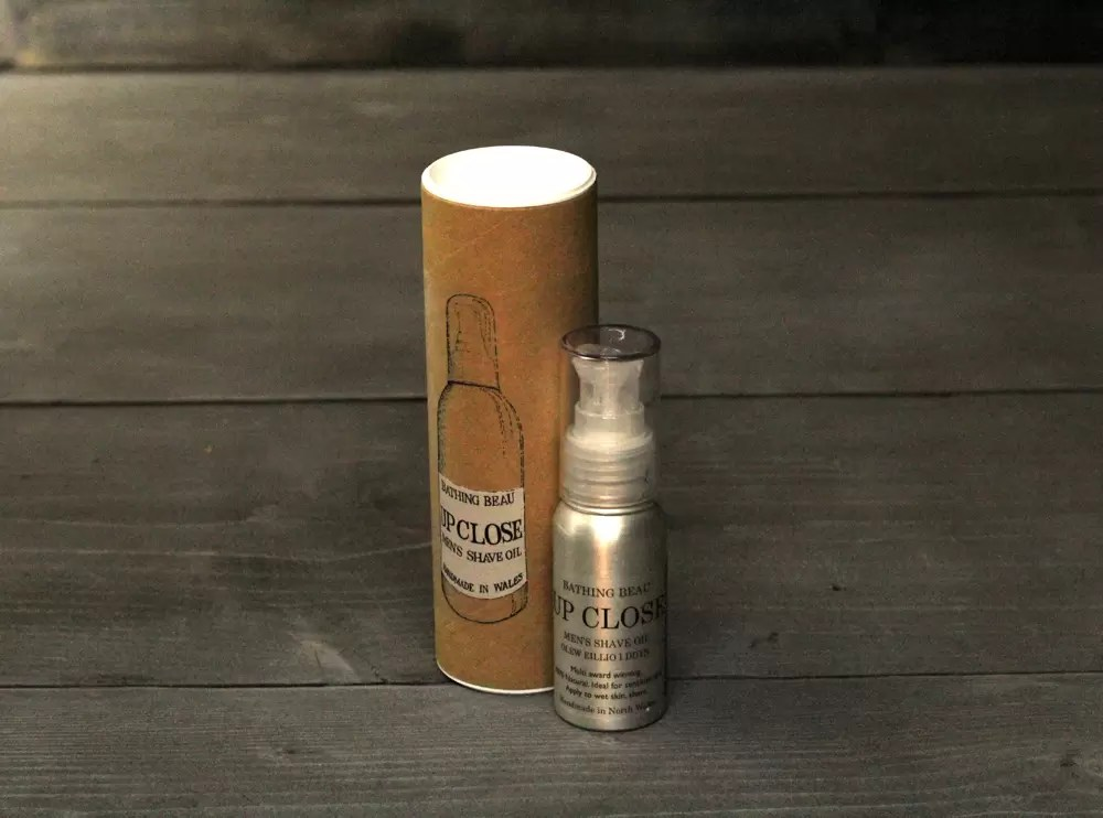 Upclose natual shave oil from Bathing Beauty