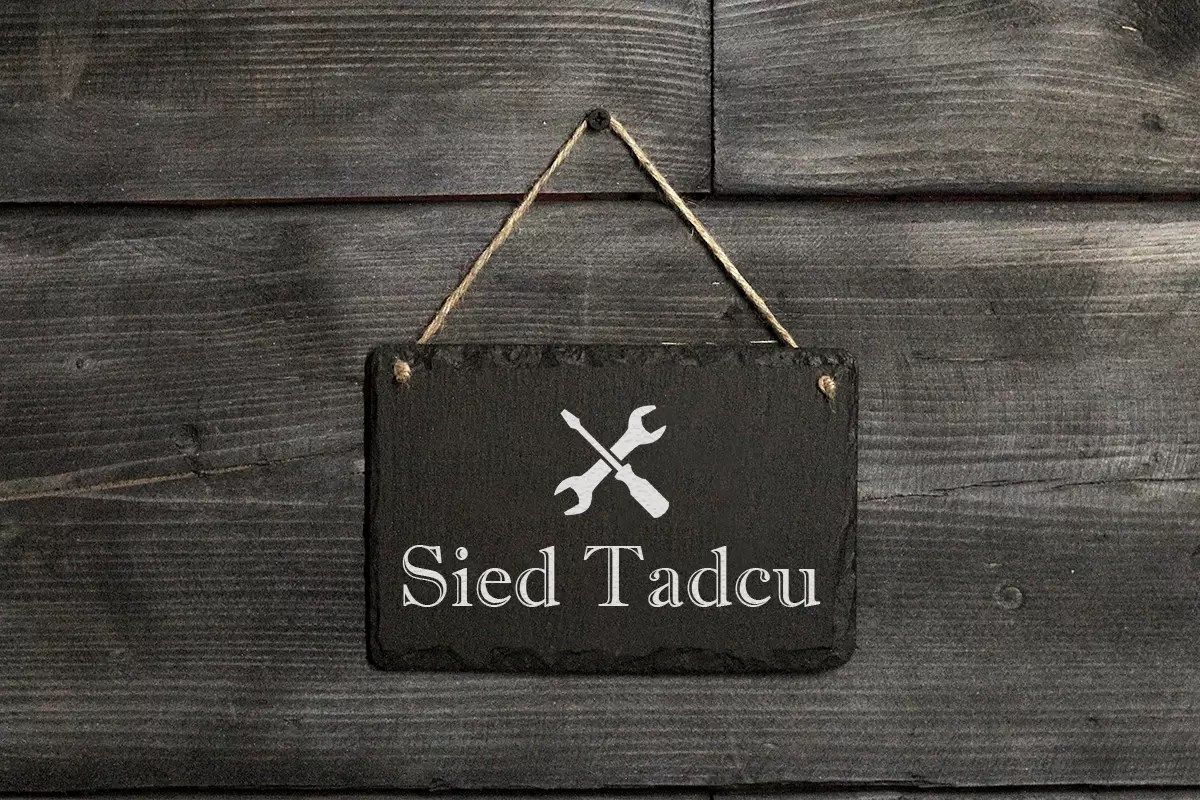 Grandad's shed Welsh slate hanging sign Father's day gifts
