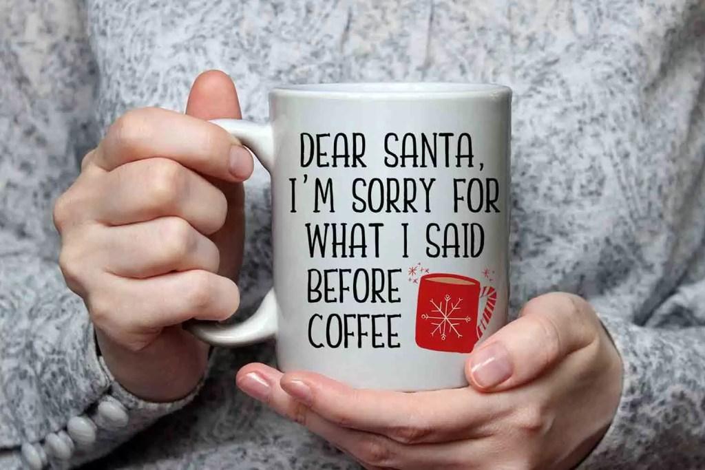 Dear Santa Ceramic Christmas Mug