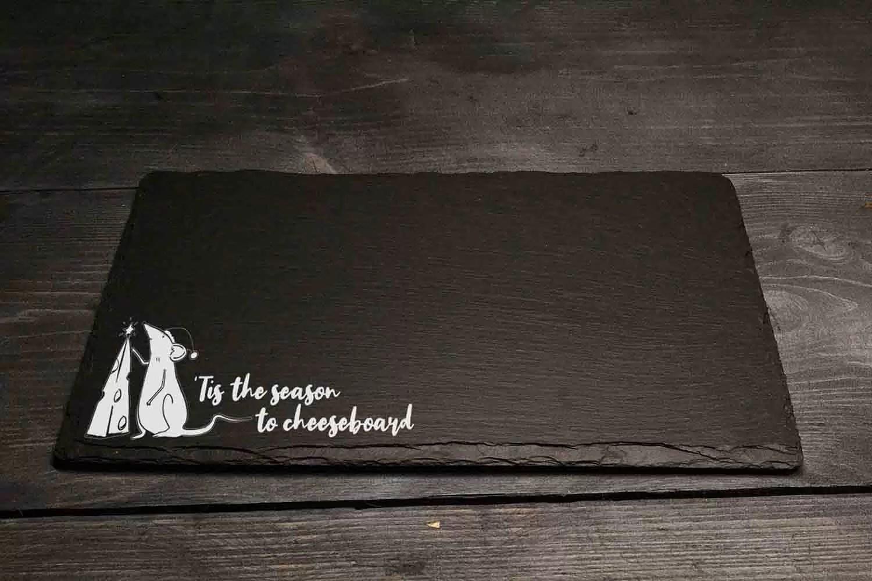 Tis The Season To Cheeseboard Welsh Slate Gift