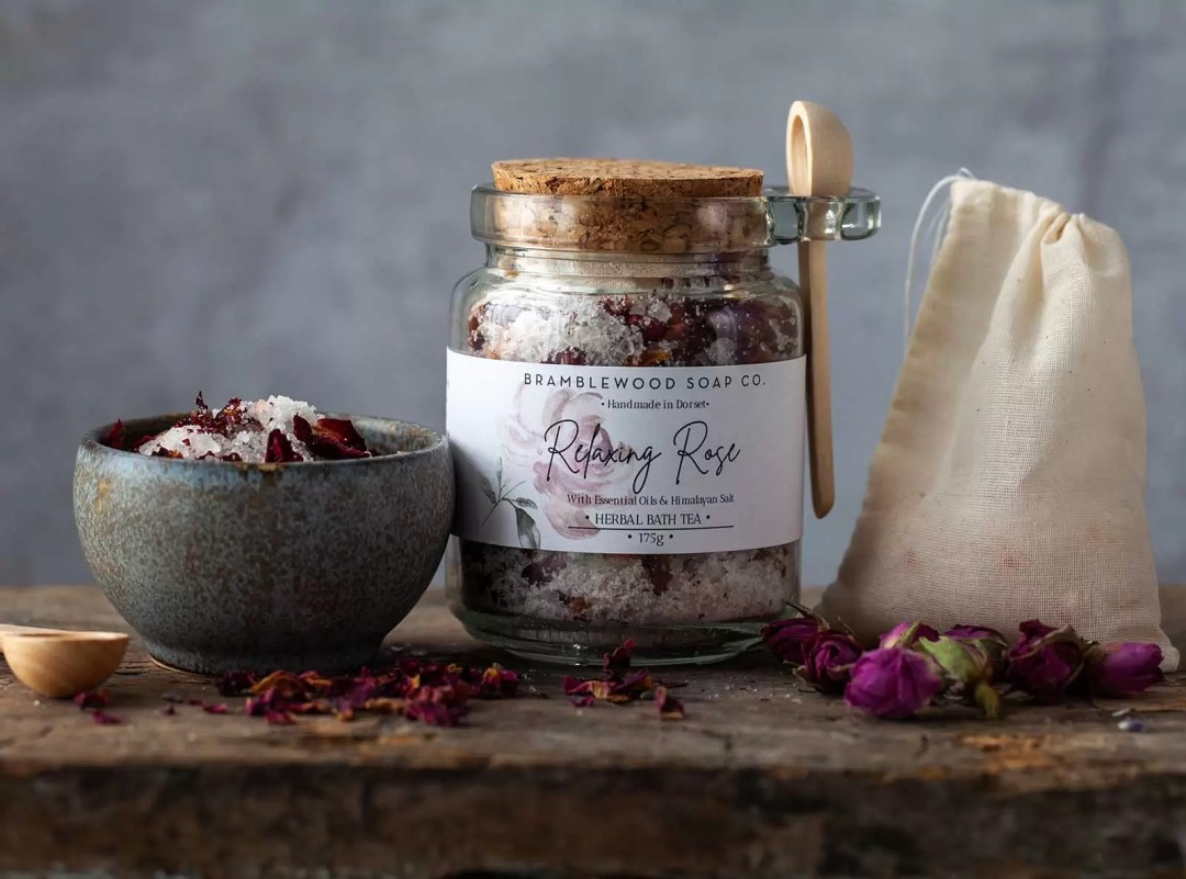 Bramblewood Soap Relaxing Rose Herbal Bath Tea Mother's Day Pamper Gift