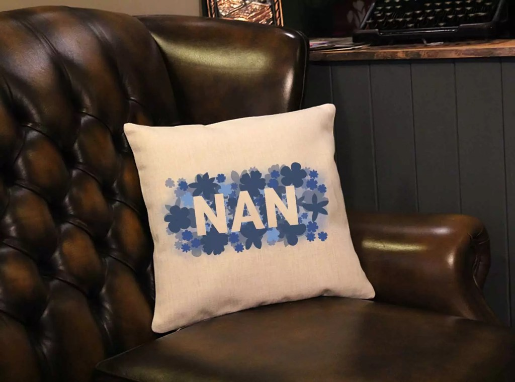Floral Nan Mother's Day Square Cushion