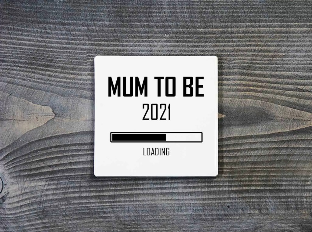 Mum To Be 2021 Loading Printer Ceramic Coaster Mother's Day Gift