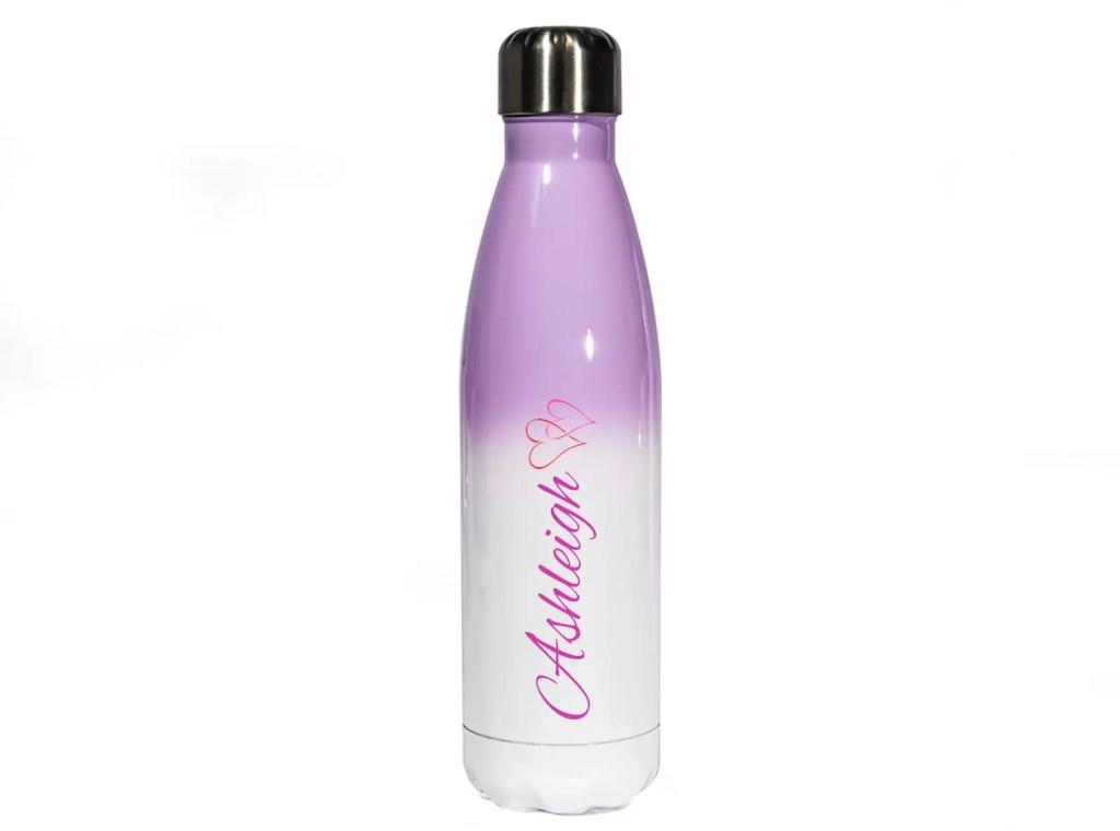 Purple Ombre Personalised Metal Water Bottle