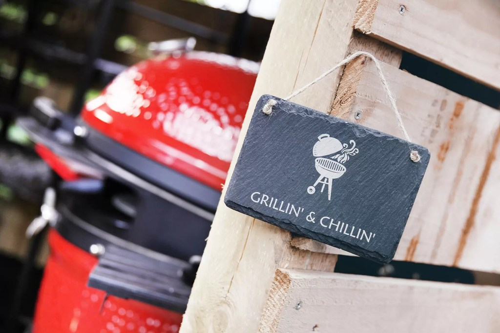 BBQ Welsh Slate hanging sign personalised