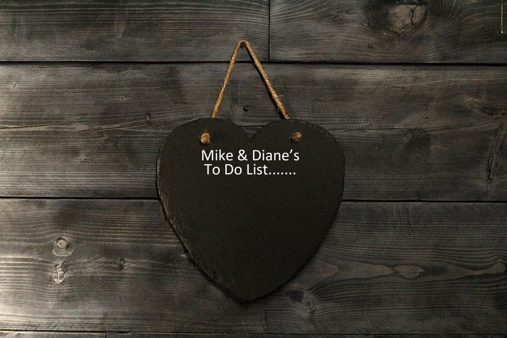 Personalised Welsh slate hanging chalk board is a perfect couples gift