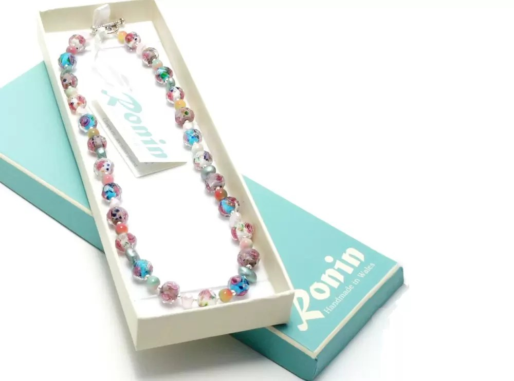A multi-colour necklace which is perfect for a wedding gift