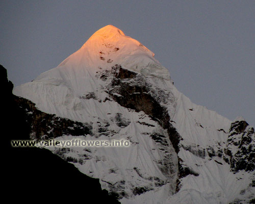 Nilkantha Peak - First ray of sun