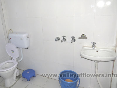Hotels in Ghangaria | toilet