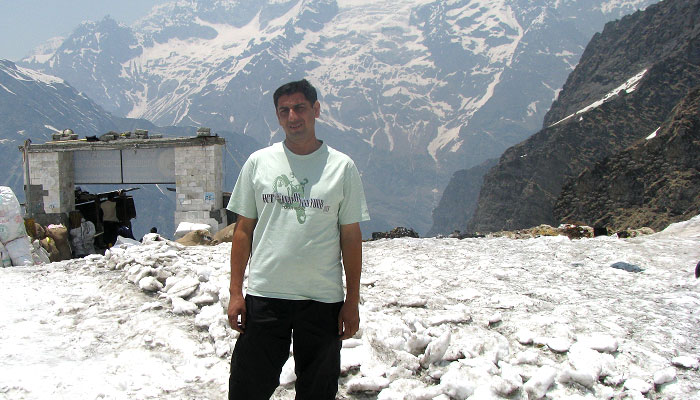 At Hemkund Sahib in June first week, 2012