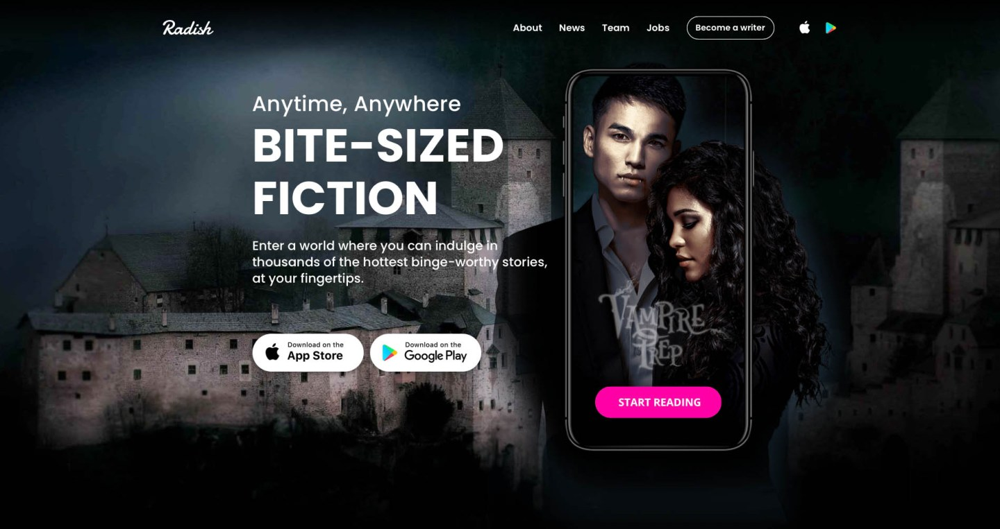 Leading serialized fiction platforms like Radish Fiction make millions every year.