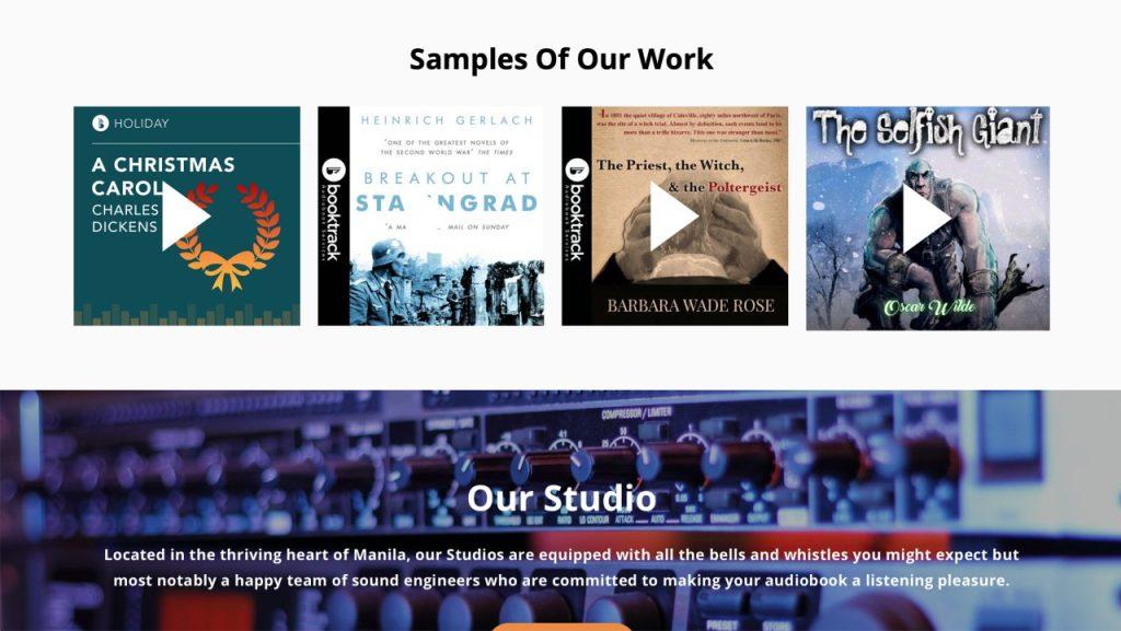 Booktrack Sample Work