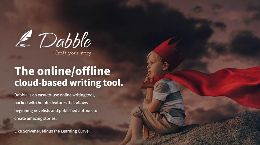 Dabble Writer homepage screenshot