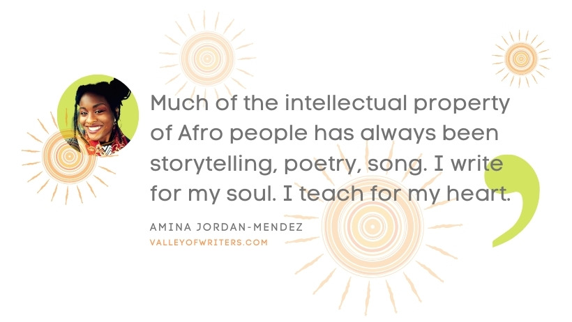 Amina Jordan-Mendez quotes - IP of Afro people - Valley of Writers