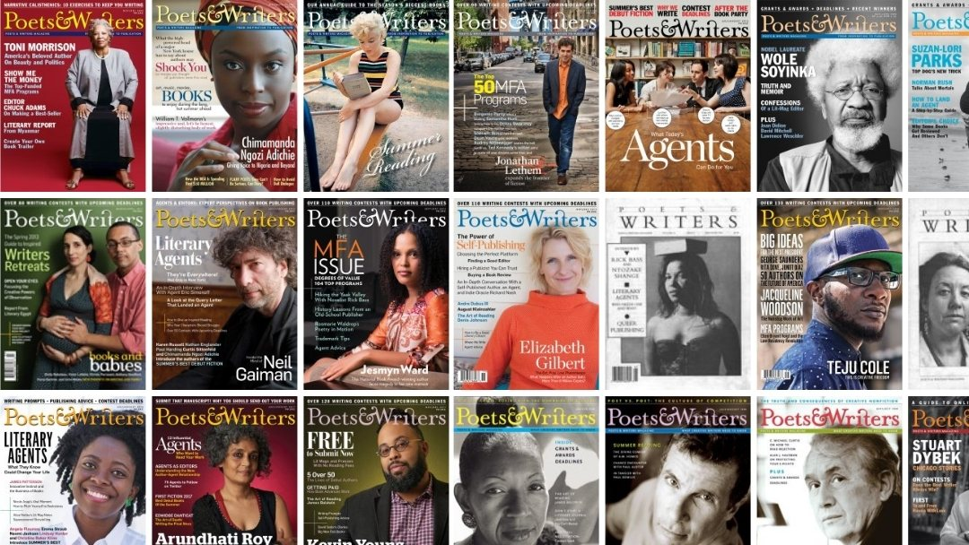 Selected Poets and Writers Magazine Covers - Second Batch