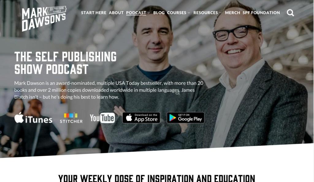 Self Publishing Show website screenshot