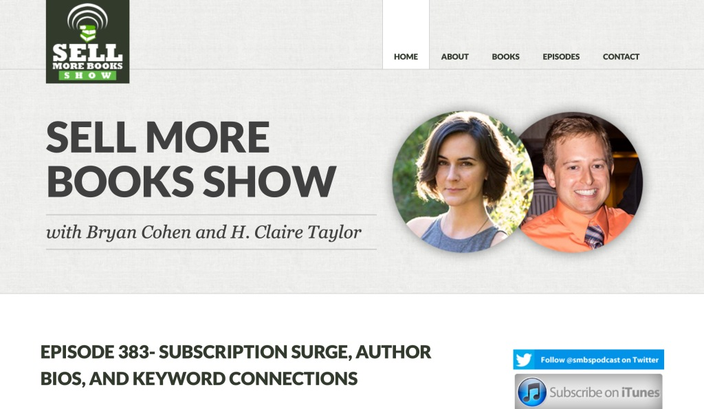Sell More Books Show home page screenshot