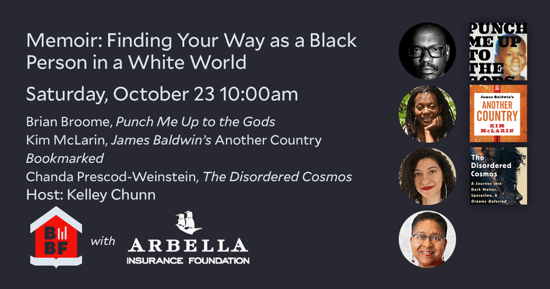 Boston Book Festival- Memoir- Finding Your Way as a Black Person in a White World