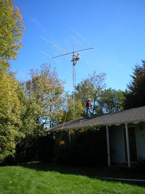 Jimmy W7CQ high on tower