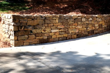 Medium stack Tennessee Fieldstone Mortared