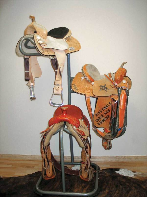 3 Tier Swivel Western Saddle Rack High Country Plastics